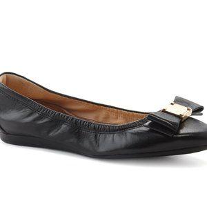 💘Cole Haan Ballet Flats Black Gold Bow 7.5👌🏻